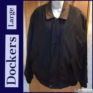 Dockers Dark Blue Large Men's Jacket Large Bomber
